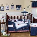 Vintage Airplane Crib Bedding Set, Themed Bedding | Theme Bedding For Crib | Nursery Bedding Themes
