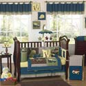 Construction Crib Bedding Set, Train And Cars Themed Nursery | Train Bedding | ABaby.com