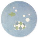 Go Fish Round Rug, Tropical Sea Nursery Decor | Tropical Sea Wall Decals | ABaby.com