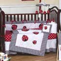 Polka Dot Ladybug Crib Bedding, Frogs And Bugs Themed Nursery | Frogs And Bugs Bedding | ABaby.com