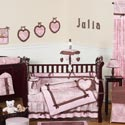 Pink & Brown Toile Crib Bedding, Baby Girl Crib Bedding | Girl Crib Bedding Sets | ABaby.com