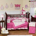 Pink Circles Crib Bedding Set, Baby Girl Crib Bedding | Girl Crib Bedding Sets | ABaby.com