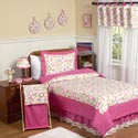 Pink Circles Full Bedding Set