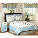 Modern Blue Polka Dot Twin Bedding, Boys Twin Bedding | Twin Bedding Sets | ABaby.com