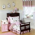 Mod Dots Toddler Bedding, Girl Toddler Bedding Sets | Toddler Girl Bedding | ABaby.com