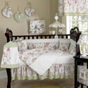 Riley's Roses Crib Bedding Set, Crib Comforters |  Ballerina Crib Bedding | ABaby.com