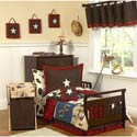 Wild West Toddler Bedding Set, Wild West, Western, Cowboy Themed Furniture, Decor For Childrens Rooms and Baby's Nursery.