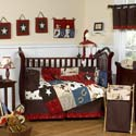 Wild West Crib Bedding Set, Wild West, Western, Cowboy Themed Furniture, Decor For Childrens Rooms and Baby's Nursery.