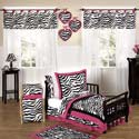 Zebra Toddler Bedding Set, Girl Toddler Bedding Sets | Toddler Girl Bedding | ABaby.com