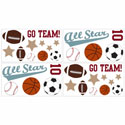All Star Sports Wall Decal, Kids Wall Decals | Baby Room Wall Decals | Ababy.com