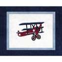 Vintage Airplane Accent Rug
