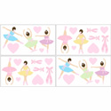 Ballerina Wall Decal, Kids Wall Decals | Baby Room Wall Decals | Ababy.com