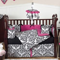 Isabella Damask Crib Bedding Set, Baby Girl Crib Bedding | Girl Crib Bedding Sets | ABaby.com
