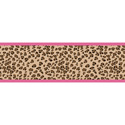 Cheetah Pink Wallpaper Border, Kids Wall Decals | Baby Room Wall Decals | Ababy.com