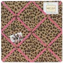 Cheetah Pink Memo Board, Kids Bedroom Decor | Clocks | Baby Picture Frames | ABaby.com