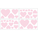 Pink Heart Wall Decal, Kids Wall Decals | Baby Room Wall Decals | Ababy.com