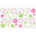 Pink Circles Wall Decal, Kids Wall Decals | Baby Room Wall Decals | Ababy.com