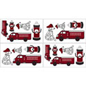 Fire Truck Wall Decal, Kids Wall Decals | Baby Room Wall Decals | Ababy.com
