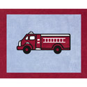 Fire Truck Accent Rug, Novelty Rugs | Cheap Personalized Area Rugs | ABaby.com