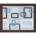 Geo Blue Accent Rug, Kids Playroom Area Rugs | Bedroom Rugs | Carpet | aBaby.com