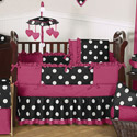 Hot Dot Crib Bedding Collection, Baby Girl Crib Bedding | Girl Crib Bedding Sets | ABaby.com