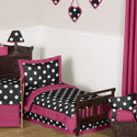 Hot Dot Toddler Bedding, Girls Toddler Bedding Sets | Little Girl Bedding | Baby