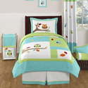 Hooty Twin/Full Bedding Collection, Girls & Boys Twin Bedding Sets | Bed Sheets | Comforters| aBaby.com