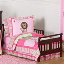 Jungle Friends Toddler Bedding, Girls Toddler Bedding Sets | Little Girl Bedding | Baby