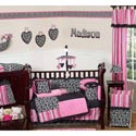 Madison Crib Bedding, Paris Posh Themed Bedding | Baby Bedding | ABaby.com