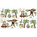 Monkey Wall Decal, Kids Wall Decals | Baby Room Wall Decals | Ababy.com