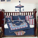 Nautical Nights Crib Bedding, Nautical Themed Bedding | Baby Bedding | ABaby.com