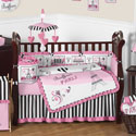 Paris Collection Crib Bedding Set, Baby Girl Crib Bedding | Girl Crib Bedding Sets | ABaby.com