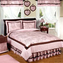 Pink & Brown Toile Twin Bedding, Twin Bed Bedding | Girls Twin Bedding | ABaby.com