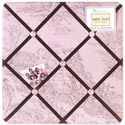 Pink & Brown Toile Memo Board, Kids Bedroom Decor | Clocks | Baby Picture Frames | ABaby.com