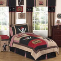 Pirate Treasure Cove Twin/Full Bedding, Boys Twin Bedding | Twin Bedding Sets | ABaby.com