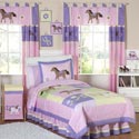 Pretty Pony Twin Bedding, Twin Bed Bedding | Girls Twin Bedding | ABaby.com