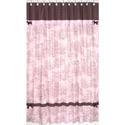 Pink & Brown Toile Shower Curtain, Kids Shower Curtains | Shower Curtain | ABaby.com