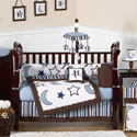 Starry Night Crib Bedding, Moon and Stars Themed Bedding | Baby Bedding | ABaby.com