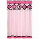 Soccer Pink Shower Curtain, Kids Shower Curtains | Shower Curtain | ABaby.com
