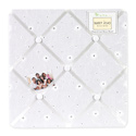 White Eyelet Memo Board, Kids Bedroom Decor | Clocks | Baby Picture Frames | ABaby.com