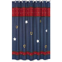 Wild West Denim Shower Curtain