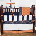 Arrow Orange and Navy Crib Bedding Collection, Baby Crib Bedding Sets | Bedding Sets for Boys & Girls | aBaby.com