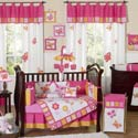 Butterfly Pink and Orange Crib Bedding, Butterfly Themed Bedding | Baby Bedding | ABaby.com