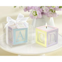 Lettered Baby Block Candle (Set of 4), Shower Favors | Baby Shower Gift Ideas | ABaby.com