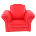 Red Faux Leather Kids Chair, Kids Upholstered Chairs | Personalized Toddler Couch | Rocker | Recliner
