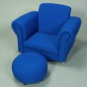 Upholstered Rocker with Ottoman