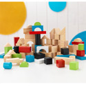 100 Piece Wooden Block Set, Infant Toys | Toddler Toys | Infant Baby Toys | ABaby.com