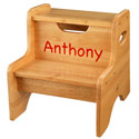 Personalized Two Step Stool, Step Stools For Children | Kids Stools | Kids Step Stools | ABaby.com