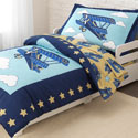 Airplane Toddler Bedding, Toddler Bedding Sets For Boys | Toddler Bed Sets | ABaby.com