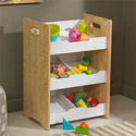 Angled Storage Unit, Kids Toy Box | Personalized Toy Chest | Wood Toy Storage Bench | aBaby.com